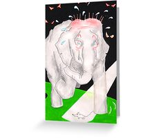 World's Most Scared Elephant Greeting Card