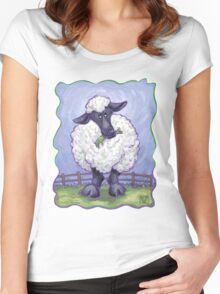Animal Parade Sheep Women's Fitted Scoop T-Shirt