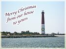 Christmas Lighthouse Card - From Our House To Yours Card by MotherNature