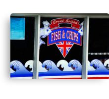 Great British Fish & Chips Canvas Print