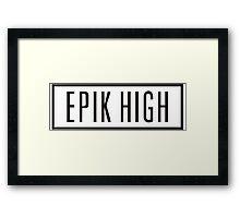 Epik High Framed Print