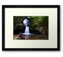 HDR-Waterfall Framed Print