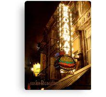 Broadway Burger Canvas Print