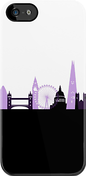 London Landmarks Purple by Chris-Cox