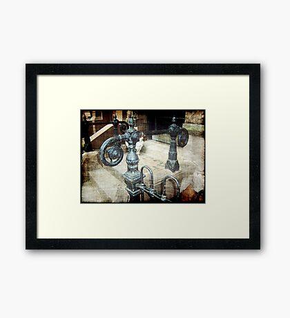 Hand Rail Framed Print