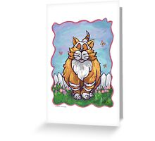 Animal Parade Ginger Cat Greeting Card