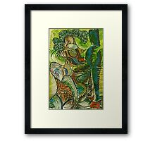Woman in color Framed Print