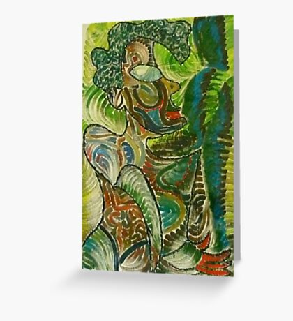 Woman in color Greeting Card