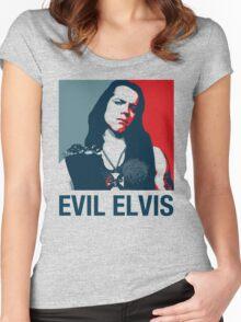Evil Elvis 2 Women's Fitted Scoop T-Shirt