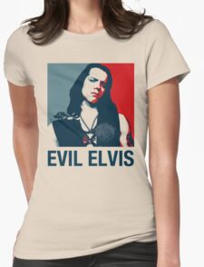 Evil Elvis 2 Womens Fitted T-Shirt