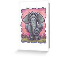 Animal Parade Elephant Greeting Card
