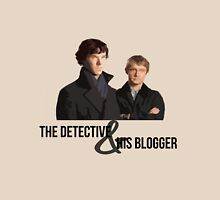 The Detective and his Blogger Womens Fitted T-Shirt
