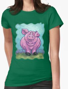 Animal Parade Pig Womens Fitted T-Shirt