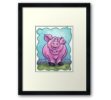 Animal Parade Pig Framed Print
