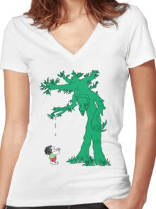 The Giving Treebeard Women's Fitted V-Neck T-Shirt