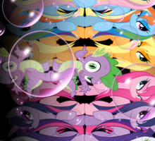 Wet Mane Bubble Ponies Sticker