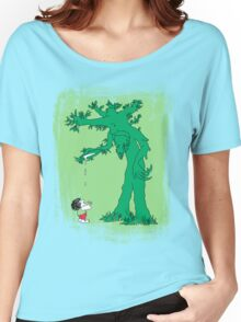 The Giving Treebeard on Lime Women's Relaxed Fit T-Shirt