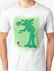 The Giving Treebeard on Lime T-Shirt