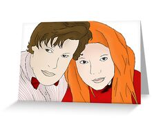 Doctor and Amy Greeting Card