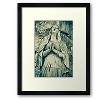Praying Nun Statue Framed Print