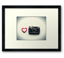 I love Photography Framed Print