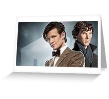 Eleven and Sherlock Greeting Card