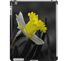 Glowing yellow daffodil in the sun iPad Case/Skin