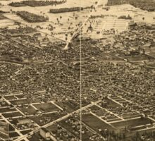 Panoramic Maps Findlay Ohio the Gas City Sticker