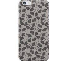 Ginkgo Vector Black on Warm Grey iPhone Case/Skin