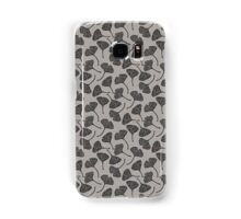 Ginkgo Vector Black on Warm Grey Samsung Galaxy Case/Skin