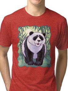 Animal Parade Panda Bear Tri-blend T-Shirt