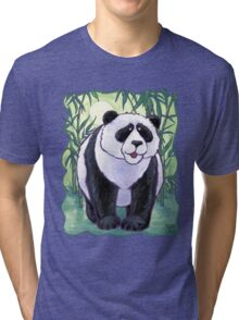 Animal Parade Panda Bear Tri-blend T-Shirt