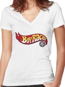 Boy Racer Women's Fitted V-Neck T-Shirt