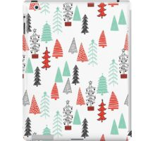 Christmas Forest - Red and Green by Andrea Lauren  iPad Case/Skin