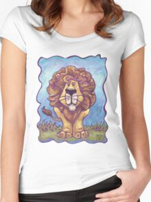 Animal Parade Lion Women's Fitted Scoop T-Shirt