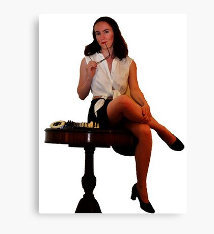 Geeky Pin-Up: Chess Canvas Print