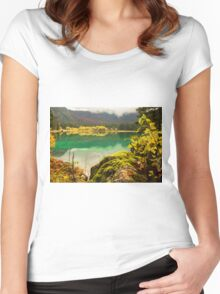 Autumn morning in the alps Women's Fitted Scoop T-Shirt