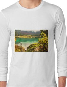 Autumn morning in the alps Long Sleeve T-Shirt