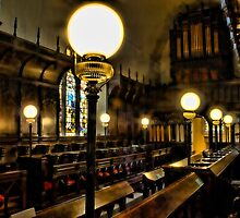 Gaslights In Gatton Church by Dave Godden