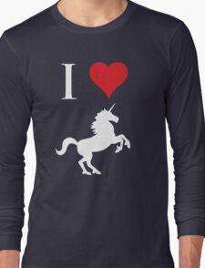 I Love Unicorns Long Sleeve T-Shirt