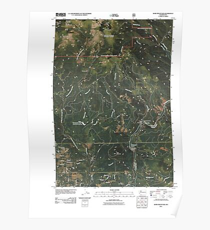 USGS Topo Map Washington State WA Bobs Mountain 20110503 TM Poster