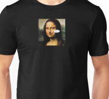 Smirking Mona Unisex T-Shirt