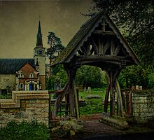 St Andrews Church Gatton and Lychgate by Dave Godden