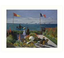Garden at Sainte-Adresse by Claude Monet Art Print