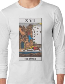 The Tower Tarot Long Sleeve T-Shirt