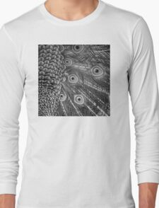 Mom and Baby matching Peacock Twilight Qtees! Long Sleeve T-Shirt
