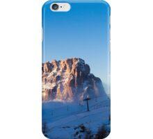 snowy winter in the dolomiti iPhone Case/Skin