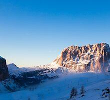 snowy winter in the dolomiti by zakaz86