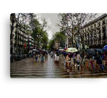Memories of Spain 10 - Barcelona Las Ramblas Canvas Print