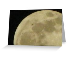 UFO passing the Moon Greeting Card